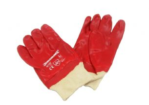 Large Red PVC Gloves